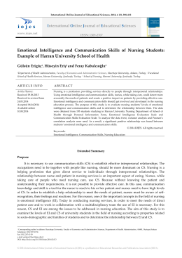 Emotional Intelligence and Communication Skills of Nursing Students