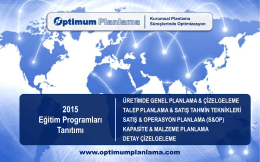 2015 Eğitim Kataloğu - OPTIMUM PLANLAMA...Uygulamalı
