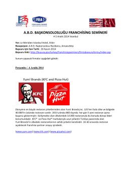 A.B.D. BAŞKONSOLOSLUĞU FRANCHİSİNG SEMİNERİ