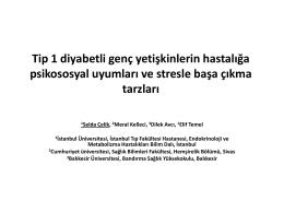 Tip 1 diyabetli genç yetişkinlerin hastalığa psikososyal