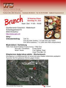 15 Haziran Pazar Sonntag 15. Juni Quartierverein Gutschick