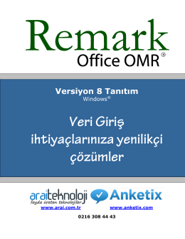 Product Summary for Remark Office OMR®