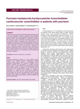 Psoriazis hastalarında kardiyovasküler