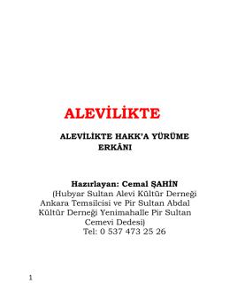 ALEVİLİKTE - Turkmensitesi