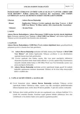 STH alım işi - Ankara Barosu