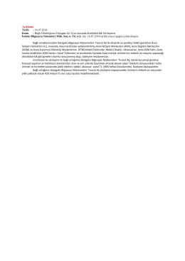 16/07/2014 - INDEX Bilgisayar
