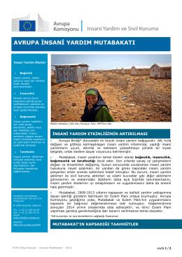 avrupa insani yardım mutabakatı - European Commission