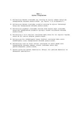 Ödev 1 Python Programlama 1. Kullanıcıya derece cinsinden açı