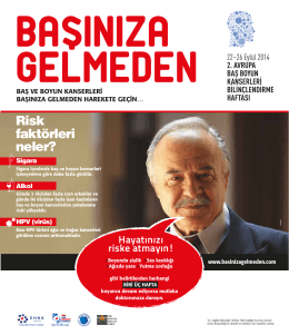 Baş Boyun Kanserleri Broşürü - Türkiye Halk Sağlığı Kurumu