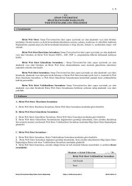 Web Sitesi Hazırlama Sözleşmesi - Sinop Üniversitesi Bilgi İşlem