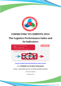 CONNECTING TO COMPETE 2014 The Logistics Performance