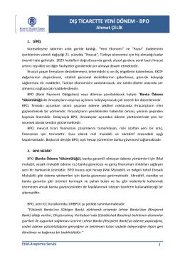 BPO- Banka Ödeme Yükümlülüğü