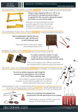 PDF Katalog İndir - İskele ve Kalıp Sistemleri