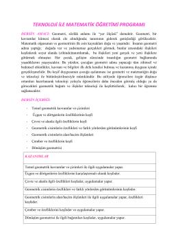 teknoloji ile matematik öğretimi programı
