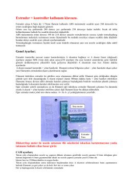 Extruder + kontroller kullanım klavuzu. - laser