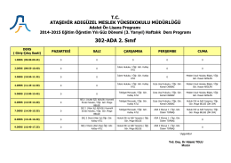 302-ADA 2. Sınıf - Ataşehir Adıgüzel Meslek Yüksekokulu