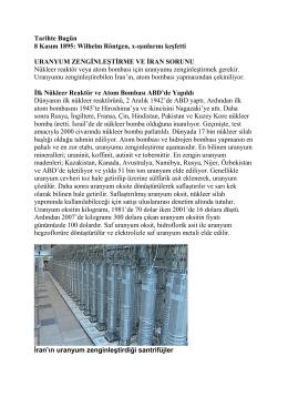 Uranyum Zenginleştirme ve İran Sorunu