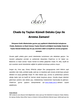 Chado by Taylan Kümeli Detoks Çayı ile Arınma