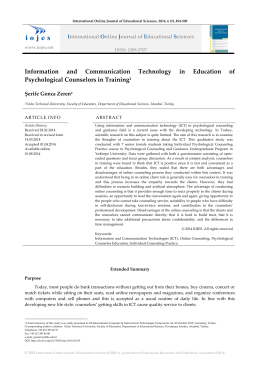 Information and Communication Technology in Education of