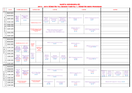 harita mühendisliği 2013 – 2014 öğretim yılı bahar yarıyılı 1. öğretim