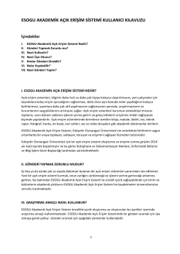 esogu akademik açık erişim sistemi kullanıcı kılavuzu