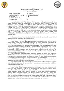 Eylül 2014 Meclis Tutanak Özetleri