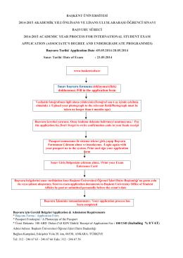 başkent üniversitesi 2014-2015 akademik yılı önlisans ve lisans