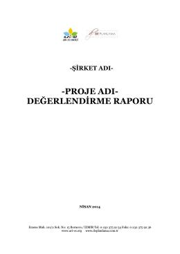 -PROJE ADI- DEĞERLENDİRME RAPORU