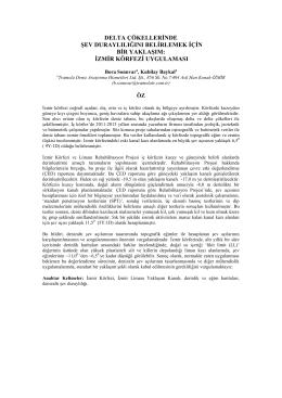 izmir körfezi uygulaması - Tramola Deniz Araştırma Hizmetleri