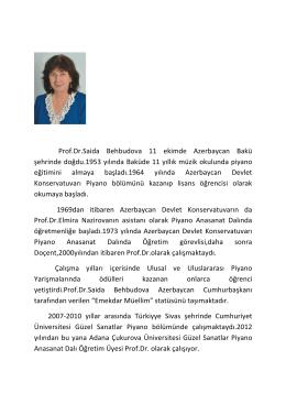 Prof.Dr.Saida Behbudova 11 ekim - gusbag