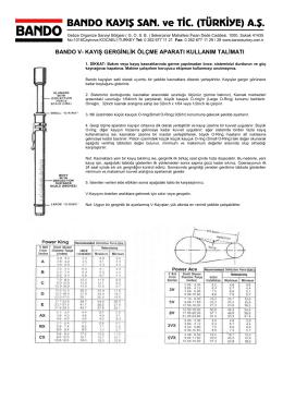 bando v- kayış gerginlik ölçme aparatı kullanım talimatı