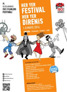 9. Uluslararası İşçi Filmleri Festival Ankara Gösterim Programı İçin