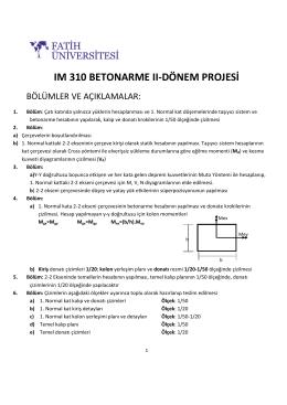 ım 310 betonarme ıı-dönem projesi