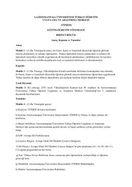tömer - Gaziosmanpaşa Üniversitesi