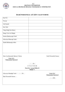idari personele ait izin talep formu