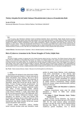 Mevlüt GÜNLER - KMÜ Sosyal ve Ekonomik Araştırmalar Dergisi