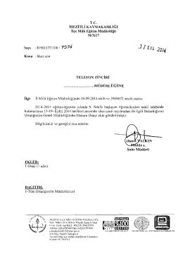 .1] in 2014 - mersin - mezitli ilçe millî eğitim müdürlüğü