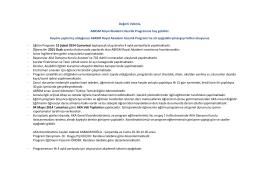 Program Yönergesi - Anabilim Kariyer Akademisi
