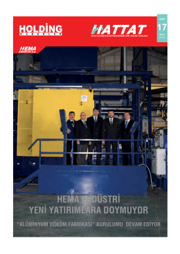 Hattat Holding Dergisi 17. Sayı
