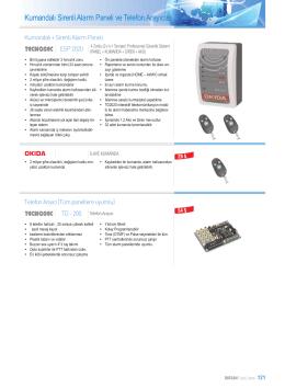 Kumandalı Sirenli Alarm Paneli ve Telefon Arayıcısı