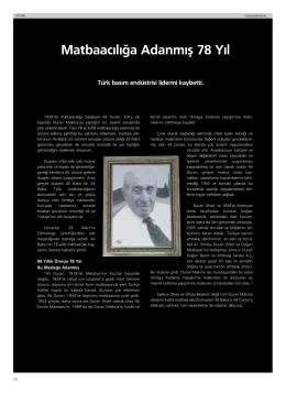 Dergi makalesini görüntüle Şirketimizin kurucusu