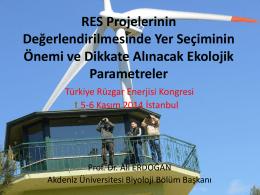 RES Projelerinin Değerlendirilmesinde Yer Seçiminin Önemi ve