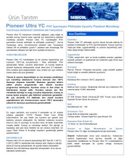 Pioneer Ultra YC PVC Ġçermeyen Phthalate Uyumlu