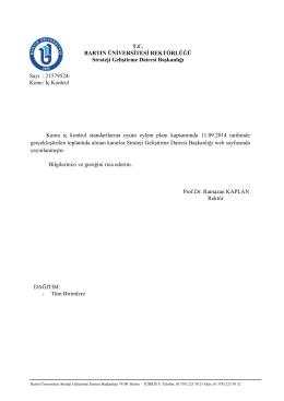 Kararlar - TC Bartın Üniversitesi Strateji Geliştirme Dairesi Başkanlığı