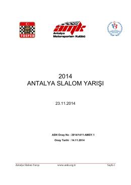 SLALOM EK KURALLAR 23.11.14 - Antalya Motorsporları Kulübü