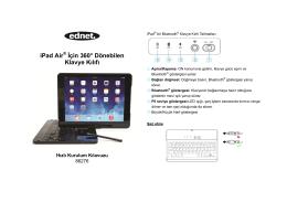 iPad Air® İçin 360° Dönebilen Klavye Kılıfı