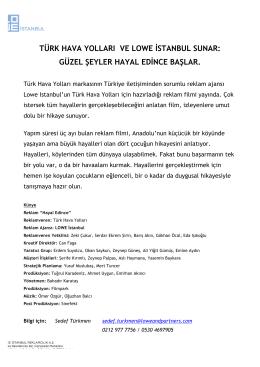 türk hava yolları ve lowe istanbul sunar: güzel şeyler hayal edince