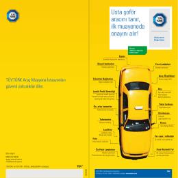 Taksi Broşürü - TÜVTÜRK Araç Muayene İstasyonları