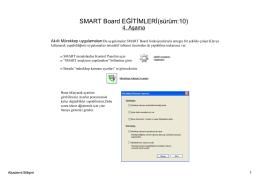 SMART Board EĞİTİMLERİ(sürüm:10)