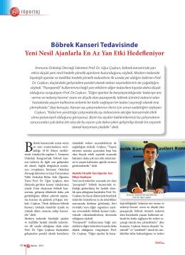 Prof.Dr.Uğur Coşkun - İmmuno Onkoloji Derneği